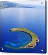 Molokini Aerial Acrylic Print by Ron Dahlquist - Printscapes