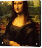 Mona Lisa Portrait Acrylic Print