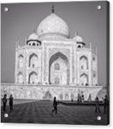Monochrome Taj Mahal - Square Acrylic Print