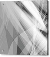 Monochrome White Abstract Vector Background, Gray Transparent Wa Acrylic Print