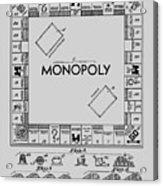 Monopoly Patent 1935 Acrylic Print