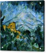 Mont Sainte-victoire And Chateau Noir Acrylic Print