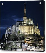 Mont St. Michel At Night Acrylic Print