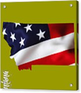 Montana State Map Collection Acrylic Print