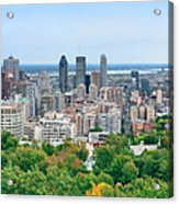 Montreal Day View Panorama Acrylic Print