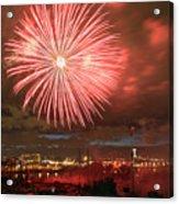 Montreal Fireworks Celebration  Acrylic Print