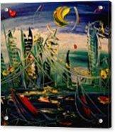 Moon City Acrylic Print