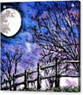 Moon O're Hocking Hills Acrylic Print