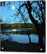 Moon Over Pierce Lake Acrylic Print
