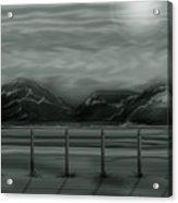 Moon Over The Beartooth Acrylic Print