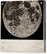 Moon Surface By John Russell Acrylic Print