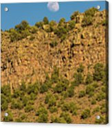Moonrise Rio Grande Gorge Pilar New Mexico Acrylic Print