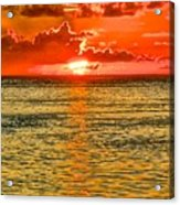Moorea Sunset Acrylic Print