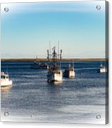 Moored In Chatham Harbor Acrylic Print