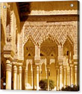 Moorish Architecture In The Nasrid Palaces At The Alhambra Granada Acrylic Print
