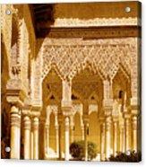 Moorish Architecture In The Nasrid Palaces At The Alhambra Granada Acrylic Print