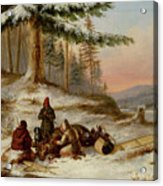 Moose Hunters Acrylic Print