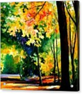 Morning Forest Acrylic Print