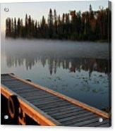Morning Mist Over Lynx Lake In Northern Saskatchewan Acrylic Print