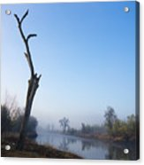 Morning On Red River Acrylic Print