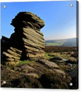Mother Cap Gritstone Rock Formation, Millstone Edge Acrylic Print