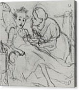Mother With Sick Child 1878 Fig 29 9h22 6 Tg Vasily Perov Acrylic Print