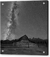 Moulton Barn Milky Way  Acrylic Print