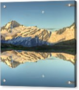 Mount Aspiring Moonrise Over Cascade Acrylic Print
