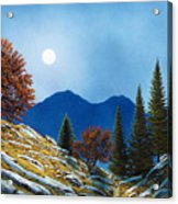 Mountain Moonrise Acrylic Print