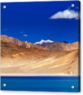 Mountains And Rocks Pangong Tso Lake Leh Ladakh Jammu Kashmir India Acrylic Print