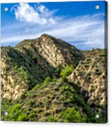 Mountains At Towsley Canyon In Southern California Acrylic Print