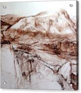 Mountains In Snowdonia Acrylic Print