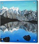 Mountains Landscape Acrylic Painting Acrylic Print