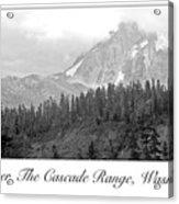 Mt. Baker, Cascade Range, Late Afternoon Acrylic Print