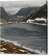 Mt. Dalsnibba And The Serpentine Descent To The Geirangerfjord Acrylic Print