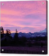 Mt Rainier Frosty Sunrise Acrylic Print