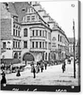 Munich, Germany, Street Scene, 1903, Vintage Photograph Acrylic Print