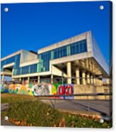 Museum Of Contemporary Art In Zagreb Exterior Acrylic Print