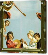Musical Group On A Balcony Acrylic Print