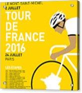 My Tour De France Minimal Poster 2016 Acrylic Print