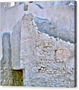 mykonos church in White Acrylic Print