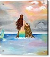 Mysteen The Mystical Queen Of The Sea Acrylic Print