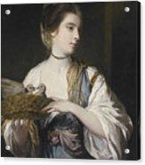 Nancy Reynolds With Doves Acrylic Print