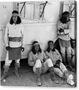 Native American Extras Dressed As Apache Warriors The High Chaparral Set Old Tucson Arizona 1969 Acrylic Print