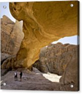 Natural Arch In Wadi Rum Acrylic Print
