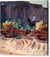 Navajo Rider Acrylic Print