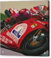 Neil Hodgson - Ducati World Superbike Acrylic Print by Jeff Taylor