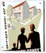 New Deal: Wpa Poster Acrylic Print