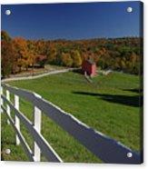 New England Barn In Autumn Acrylic Print