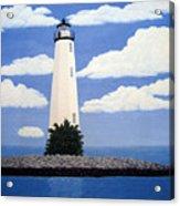 New Point Comfort Lighthouse Acrylic Print